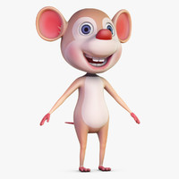 cartoon rat 3D models