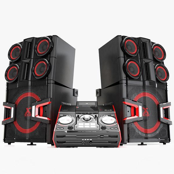 LG CM 9940 X Boom Pro 3D Models