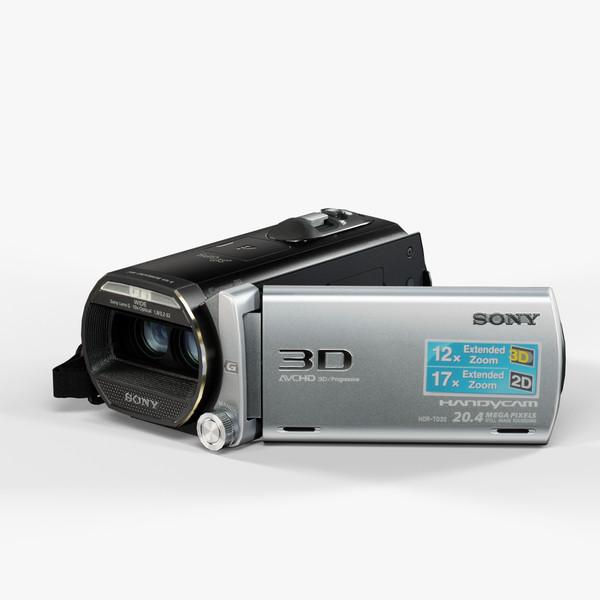 Sony Handycam HDR-TD20V Black 3D Models