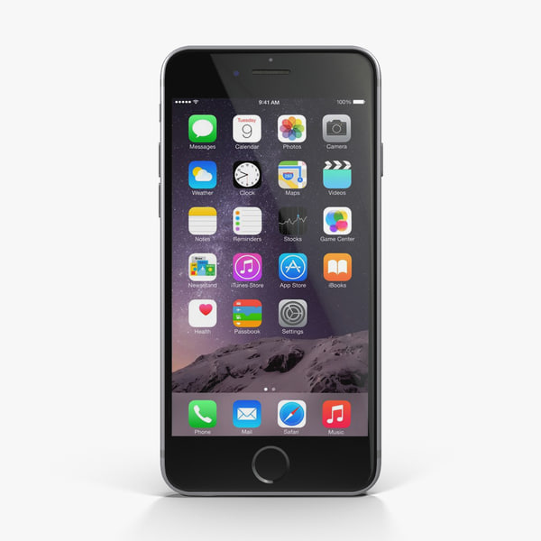 Apple iPhone 6 Space Gray 3D Models