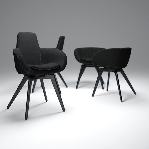 Tom-Dixon-Scoop-Chair 3D Models