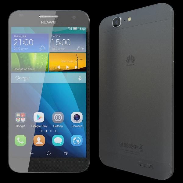 Huawei Ascend G7 Black 3D Models