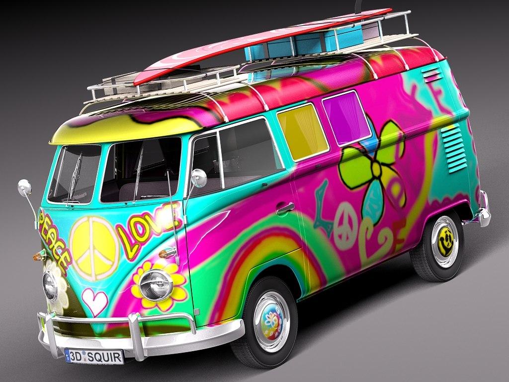 Volkswagen Camper Van 1950 Hippy