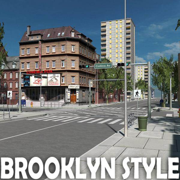 Brooklyn Style 04 3D Models