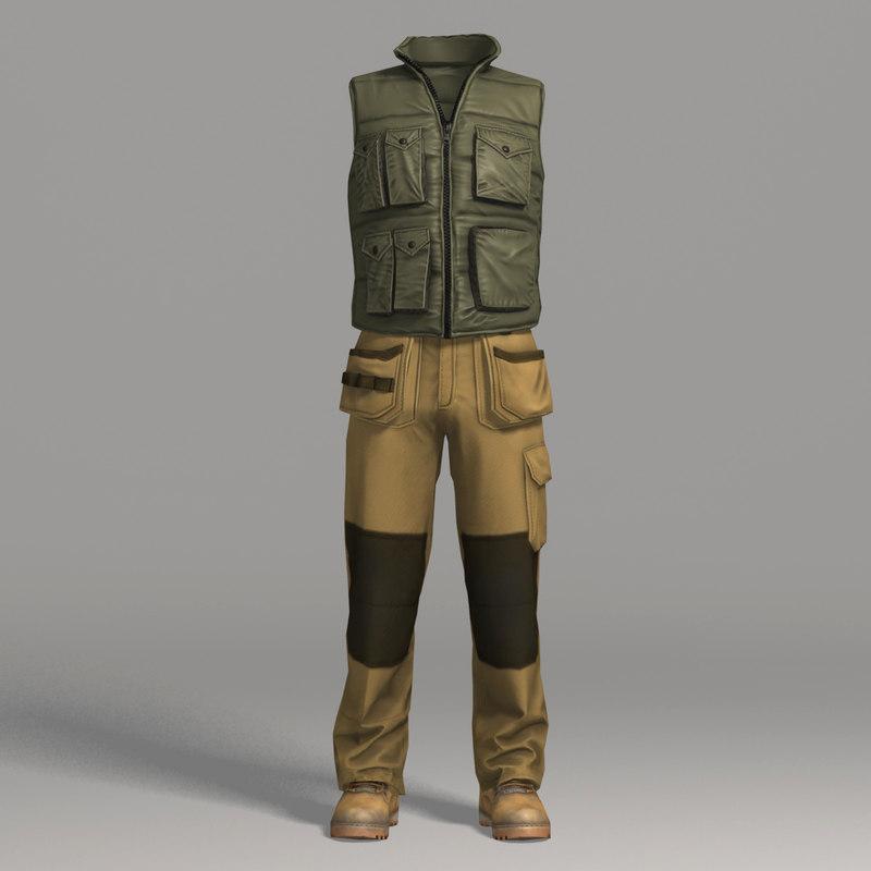 3d model workwear clothing