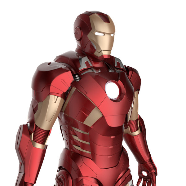 Iron Man 3 Suit - Mark 7 Armor Pepakura Texture Maps
