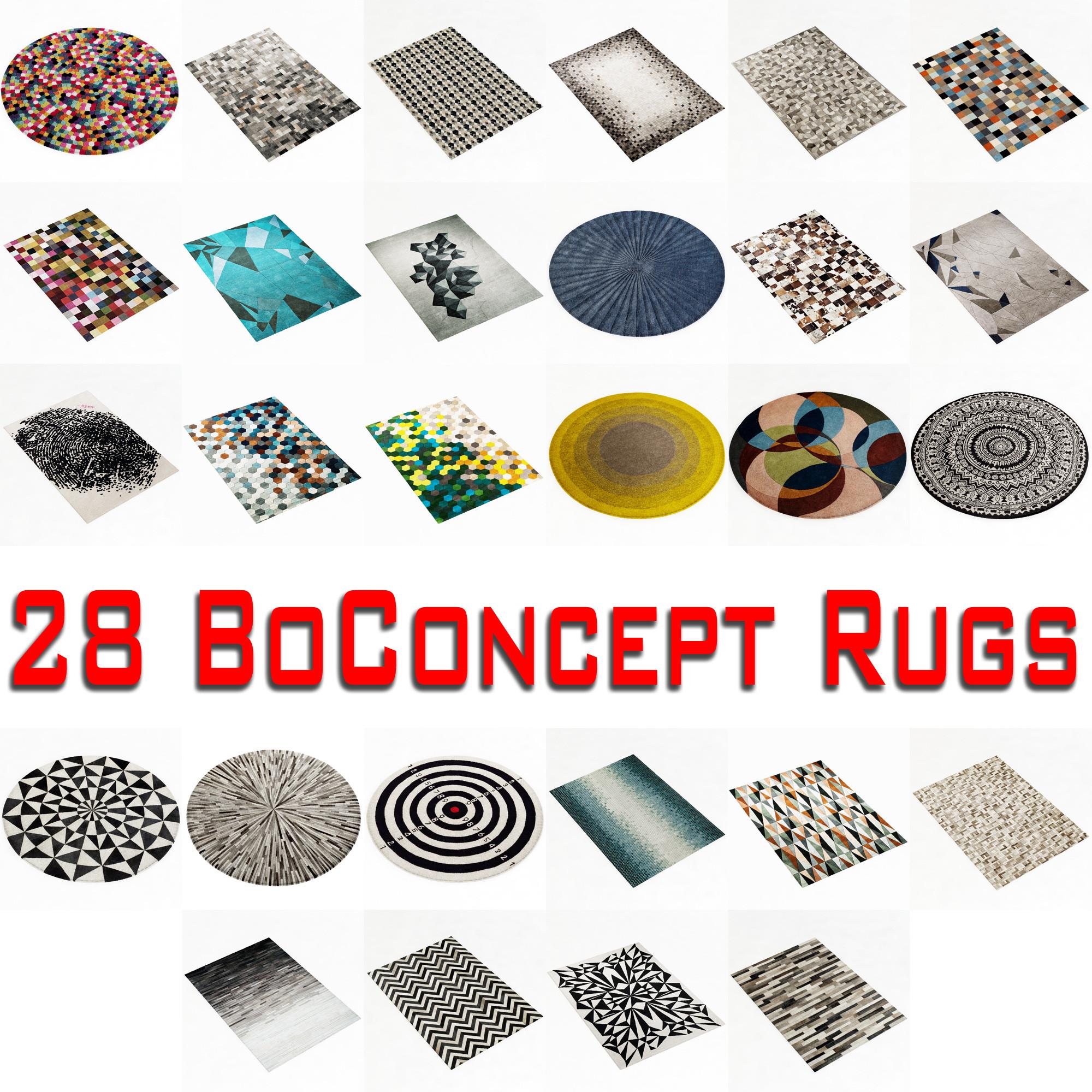 boconcept rug 3d model