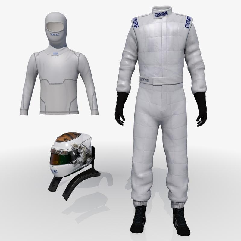Sparco Racing Suits Sparco Race Suit Helmet 3d