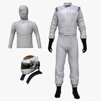 driver clothes 3D models