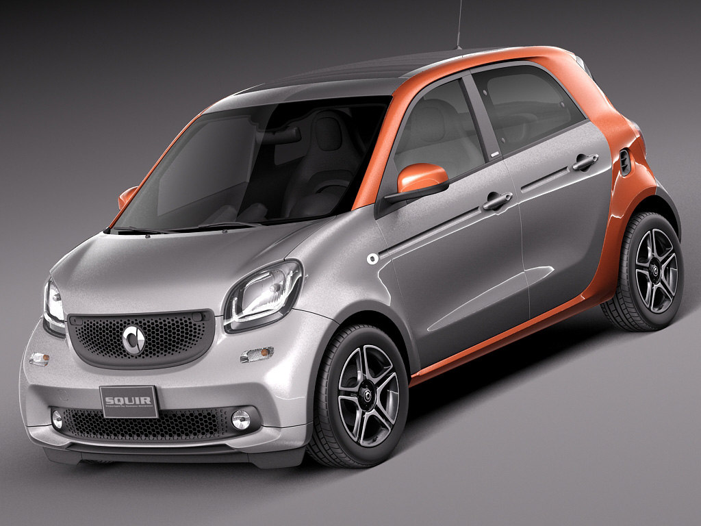 3d 2015 smart forfour model. Black Bedroom Furniture Sets. Home Design Ideas