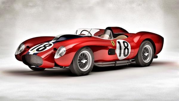 Ferrari 250 Testa Rossa Le-Mans (HQ - Updated) 3D Models