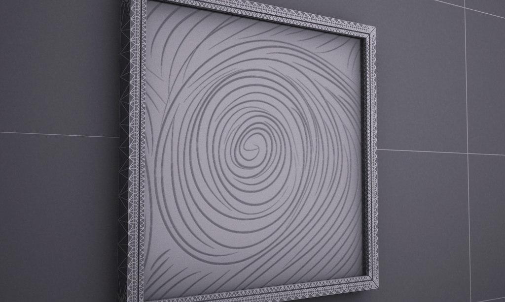 CANVAS SCULPTURE 3D SWIRL 2014 IMG006.JPG