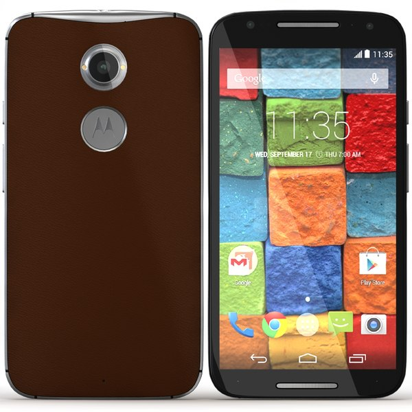 Motorola Moto X 2014 Cognac Leather 3D Models