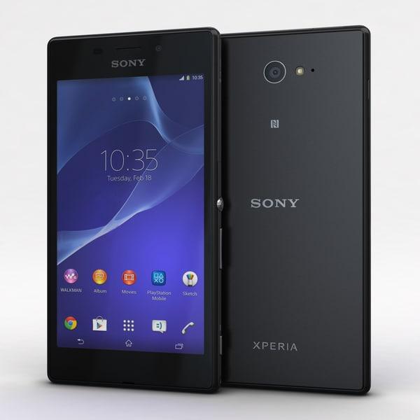 Sony Xperia M2 Aqua Black 3D Models