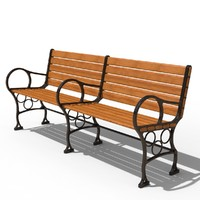 Train Station Bench 3D models