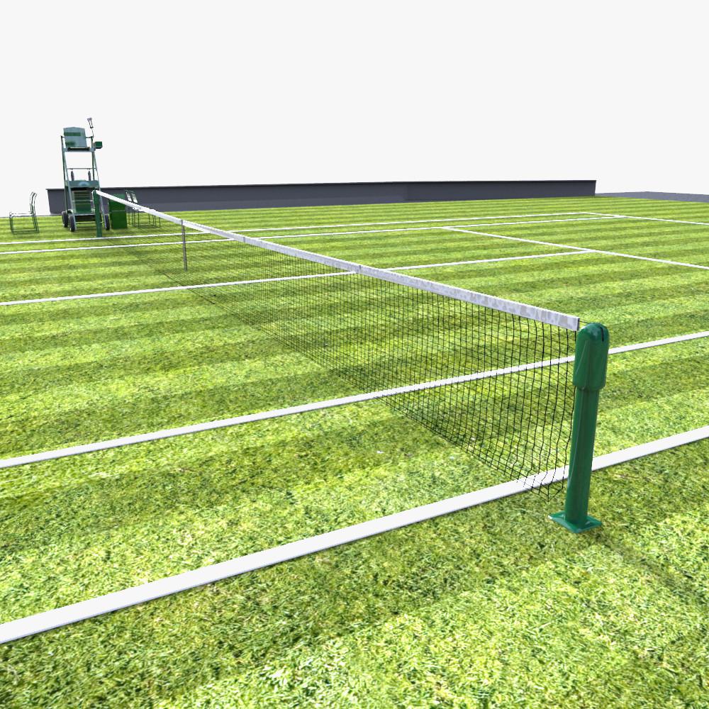 3d model tennis court