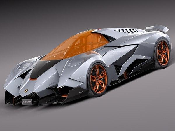 Lamborghini Egoista Concept 3D Models