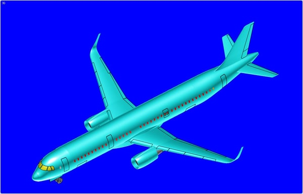 Airbus A321 (Sharklet) Aircraft Solid Assembly Model 3D Models