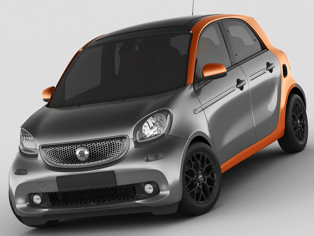 3d model smart forfour 2015. Black Bedroom Furniture Sets. Home Design Ideas