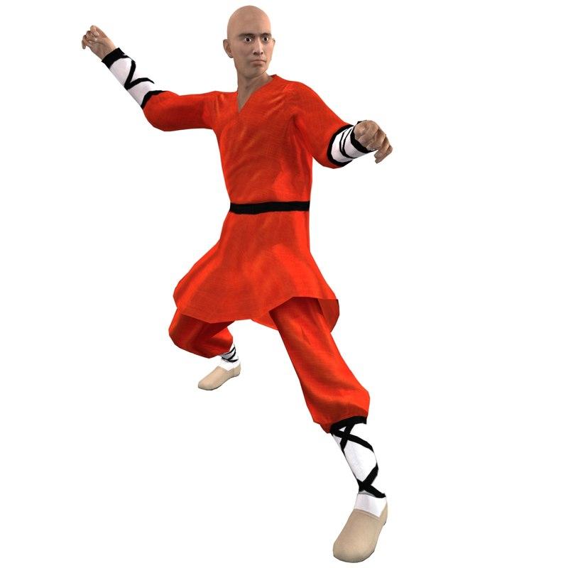 Shaolin Monk 1 Rigged