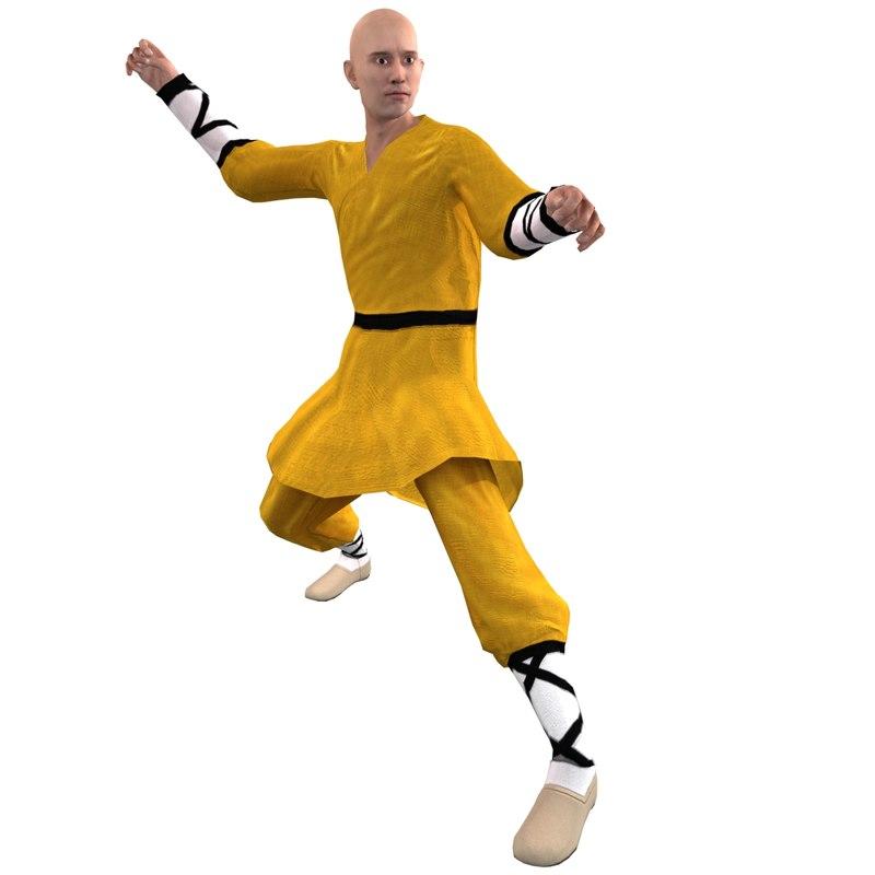 Shaolin Monk 2 Rigged