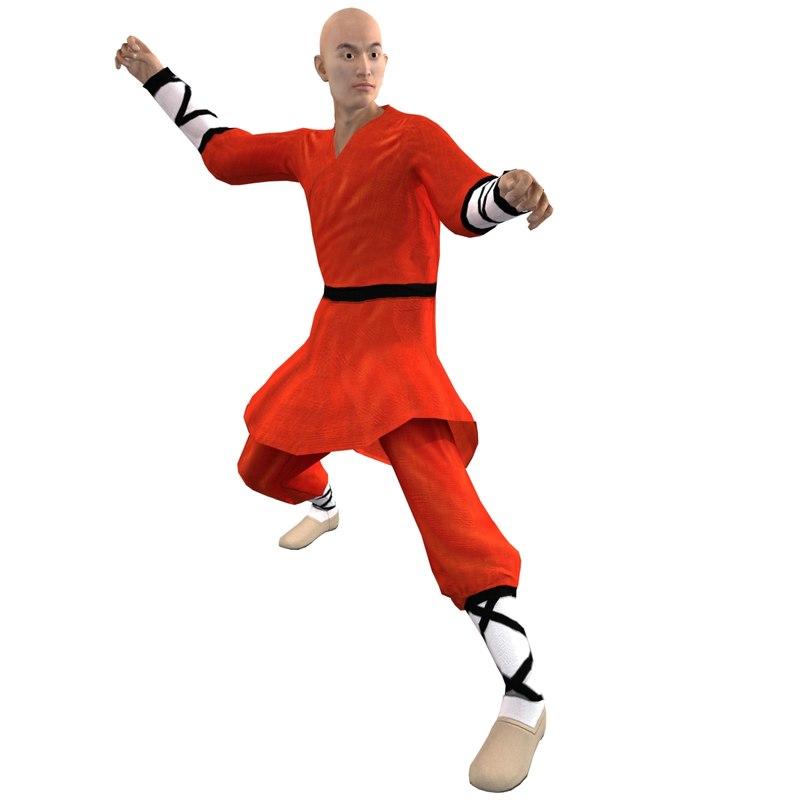 Shaolin Monk 4 Rigged