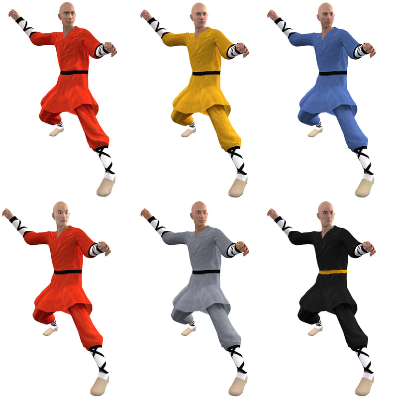 Shaolin Monks Rigged Pack