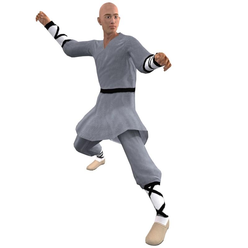 Shaolin Monk 5 Rigged