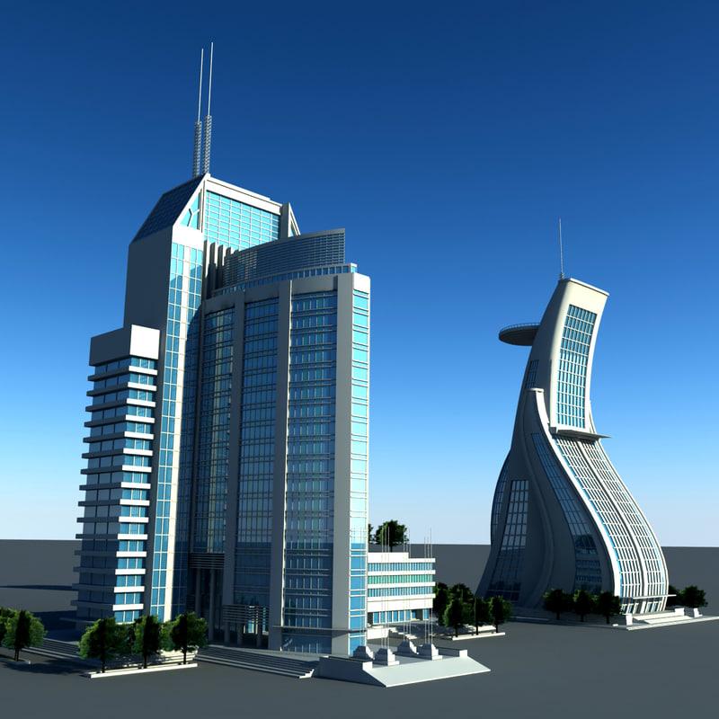 Modern Building Set01