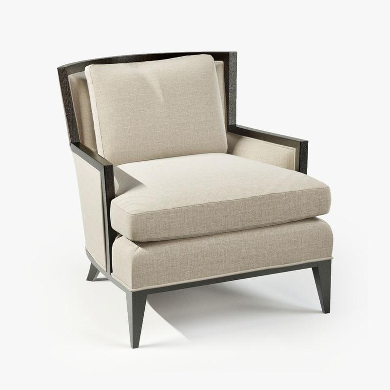 Baker California Lounge Chair 3d Model