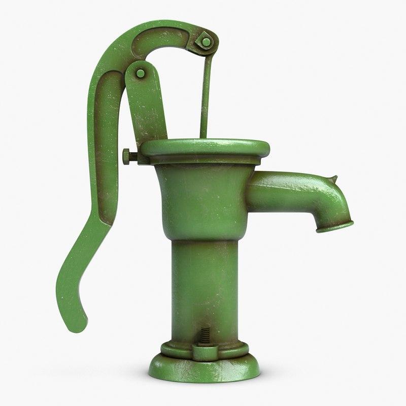 Water Pump 3d Model Hand Water Pump 3d Model