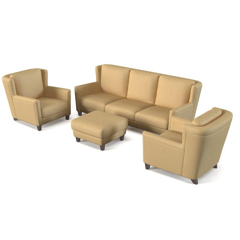 rigo salotti sofa 3d 3ds