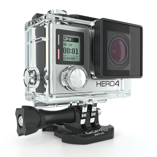 GoPro Hero 3 And 4 Action Cameras 3D Models