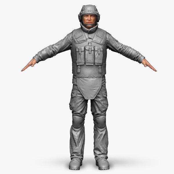 Soldier Bundeswehr Zbrush Set  2 3D Models