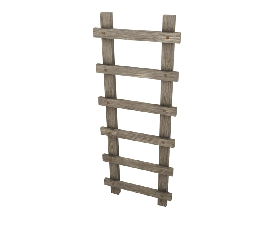 Free Low Poly Ladder 3d Model