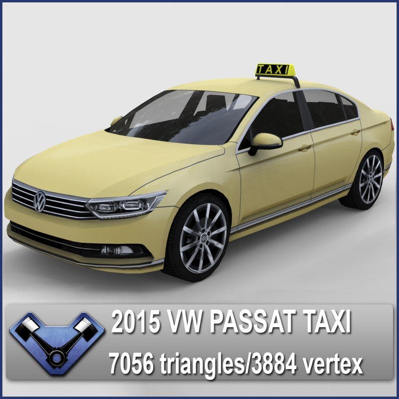 2015 Volkswagen Passat Tdi: 3ds 2015 Passat Taxi