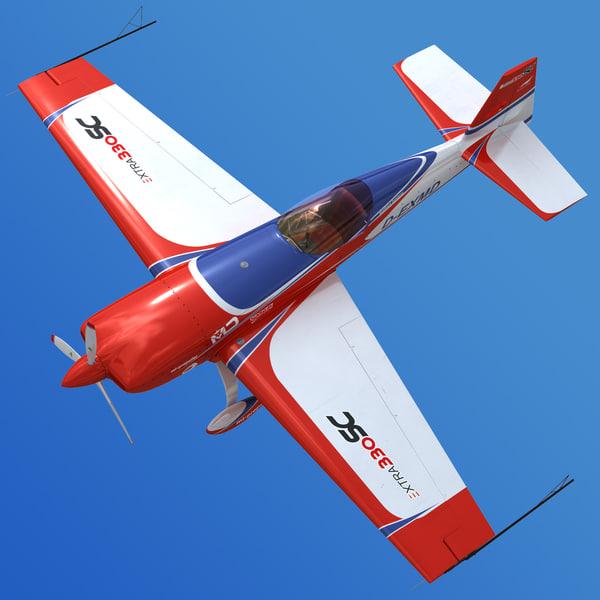 Extra 330 SC Aerobatic Aircraft 3D Models