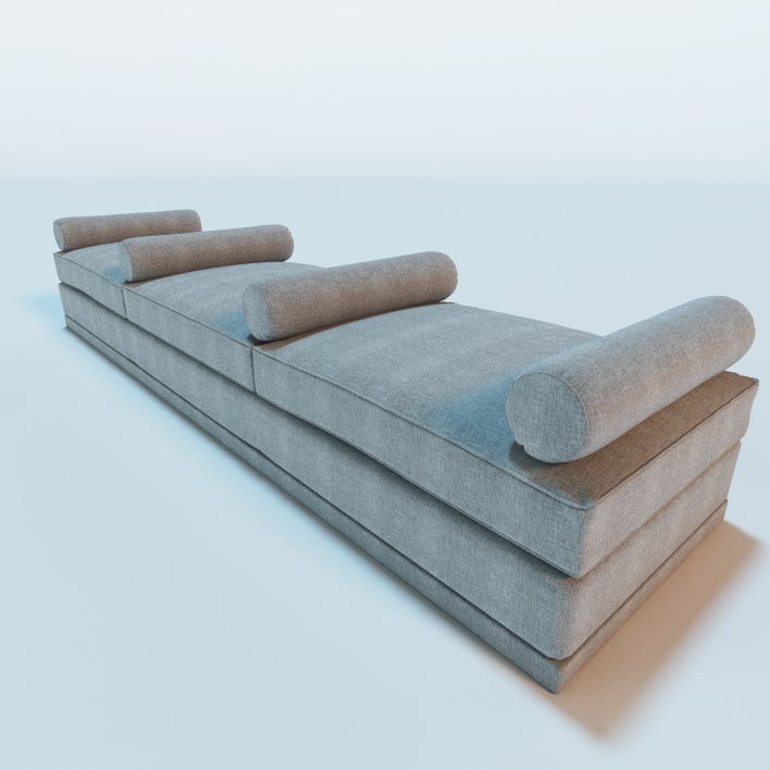 3ds Max Backless Sofa