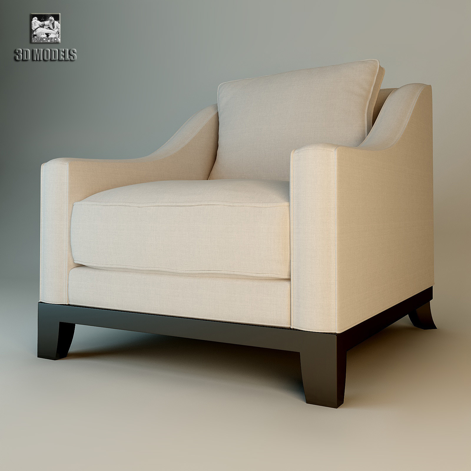 Stl finder 3d models for baker thomas pheasant greek lounge chair armchair 631 modern art - Deco lounge oud en modern ...