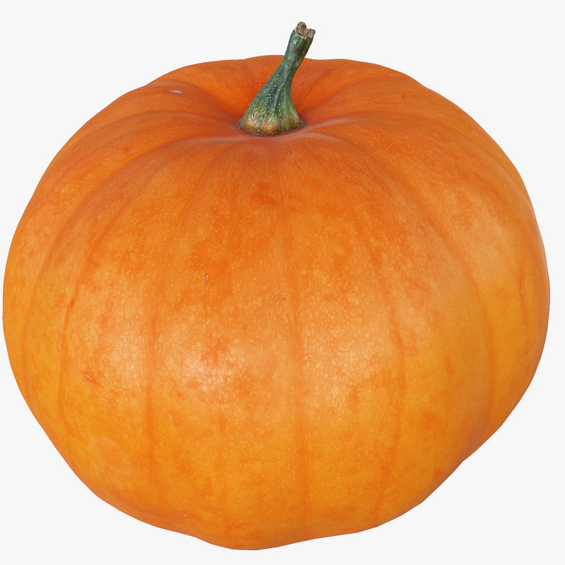 Pumpkin High And Low Poly Scaned