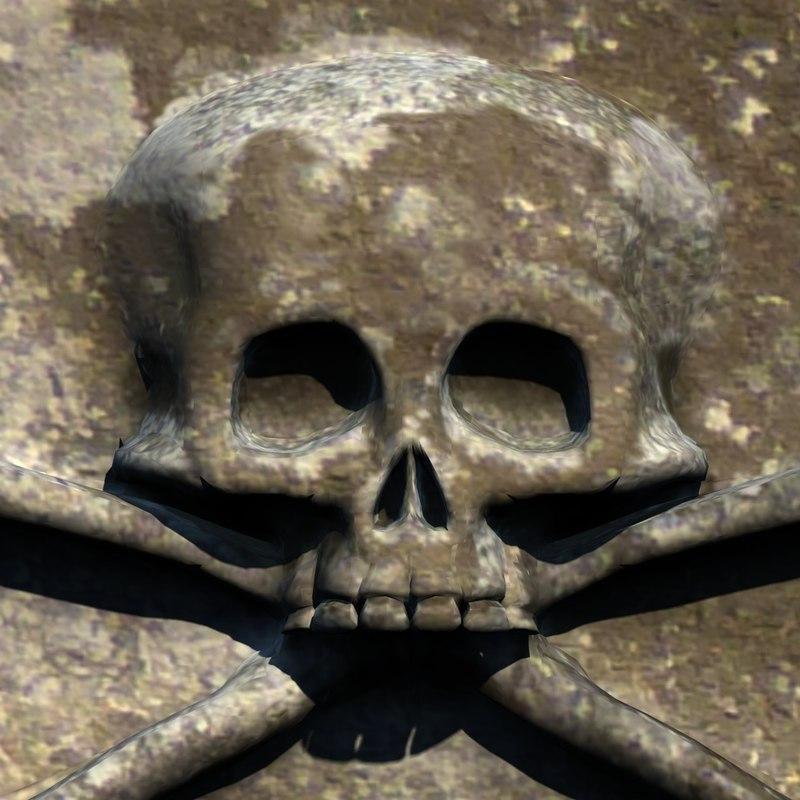 D c carved skull stone
