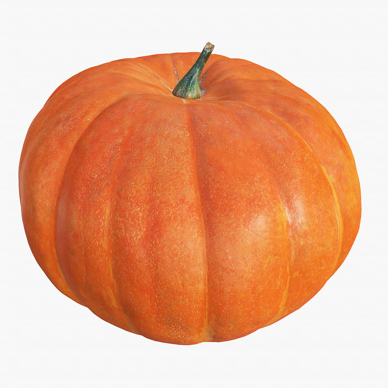 Pumpkin Big High And Low Poly Scaned