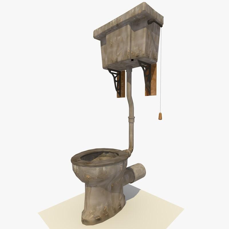 3d toilet renderer ready model - Toilet model ...