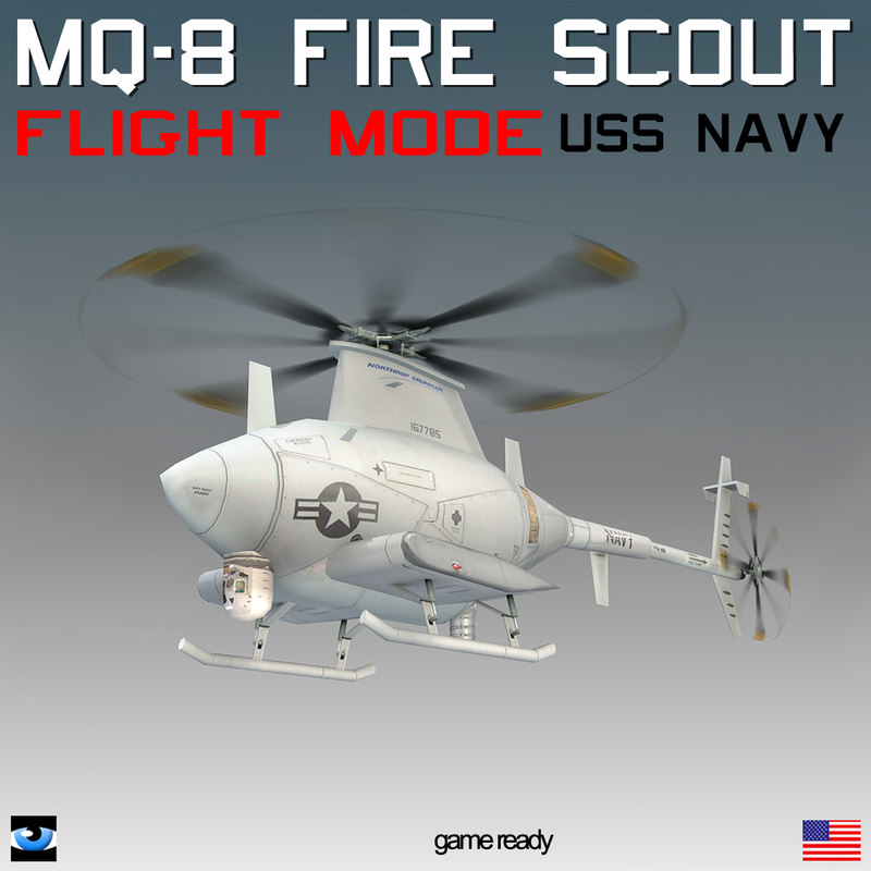 MQ-8 Fire Scout with Translucent Rotor Disk