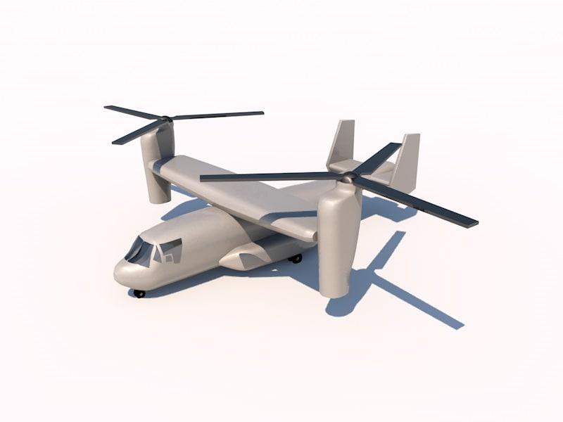 boeing osprey 3d model