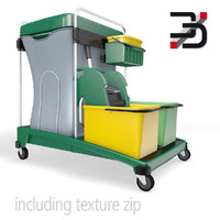 cleaning cart 3D models