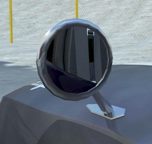 3d model retro rear view mirror for Mirror 3d model