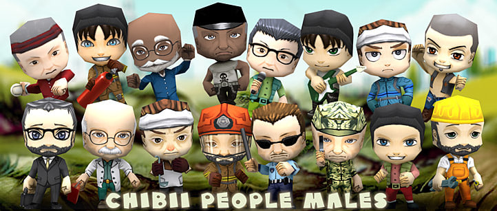 3d people males