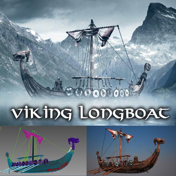 TKs Viking Ship (FULL version) 3D Models