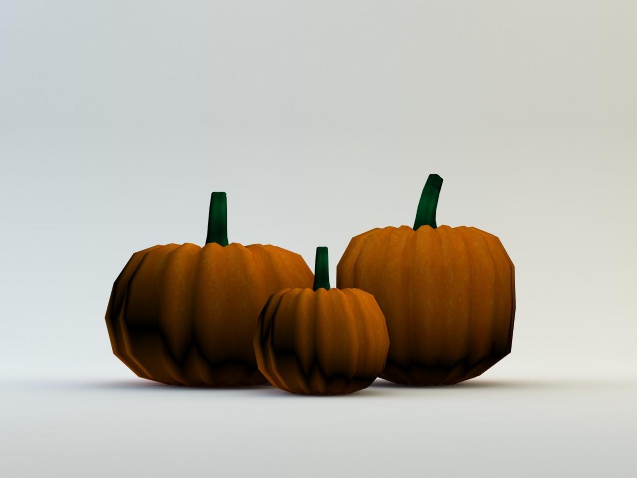 Lowpoly Halloween Pumpkin